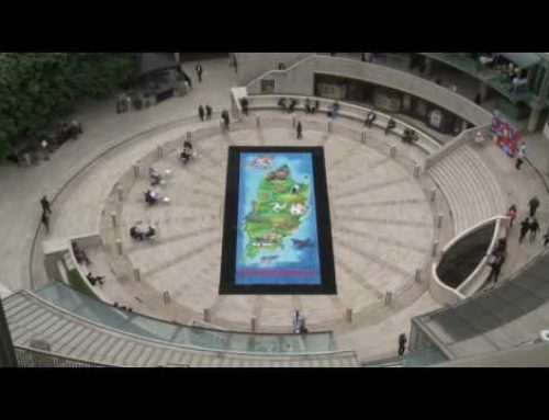 Timelapse footage of the Isle of Man taking over London with audio