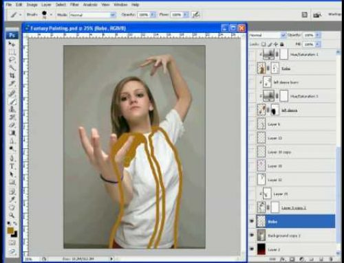 Photoshop Painting Tutorial Part  1 of 2