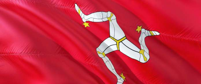 The official flag of Isle of Man